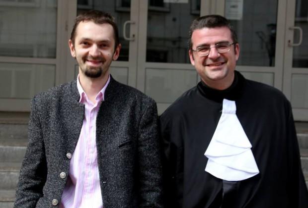 Марин Калчев и неговият адвокат Калин Ангелов