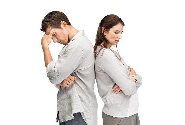 мъж жена сърдити