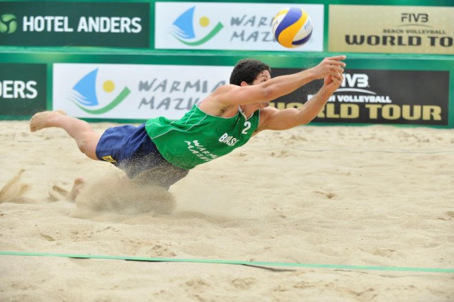 Бразилецът Алваро Фильо по време на финала на турнира в Полша през последния уикенд