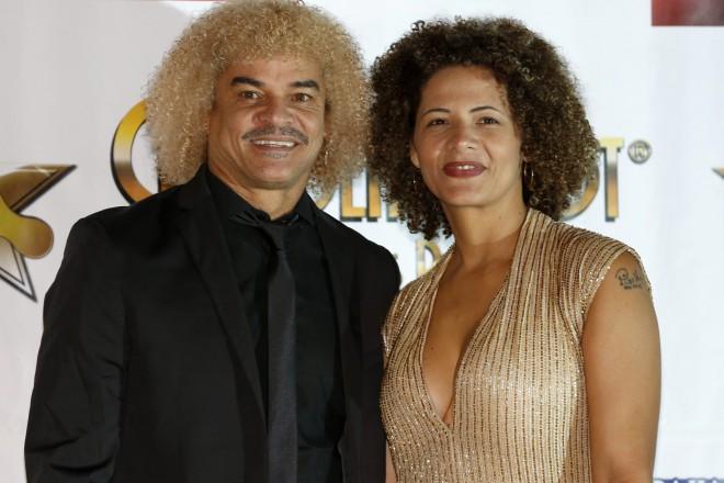 Колумбиецът Карлос Валдерама (вляво) дължи част от популярността си и на атрактивния си външен вид