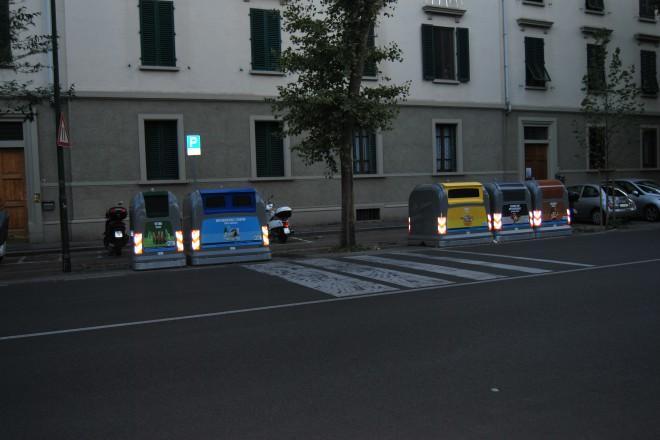 Контейнерите за разделна смет се заключват и могат да бъдат ползвани само от гражданите на Флоренция