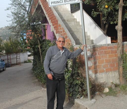 """Улицата в Балш, на която се намира базиликата с българската колона е наречена """"Княз Борис""""."""
