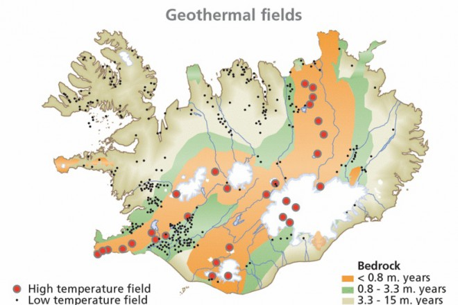 Исландия геотермална карта