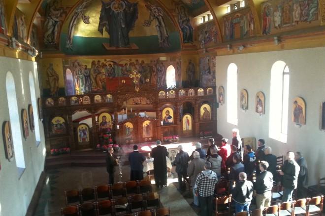 """Панихидата беше отслужена в катедралата """"Успение на пресвета Богородица""""."""