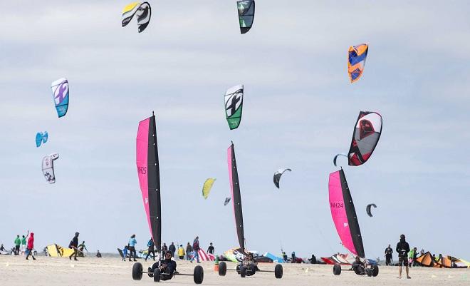 Outdoor activities at Dutch beach in Zeeland