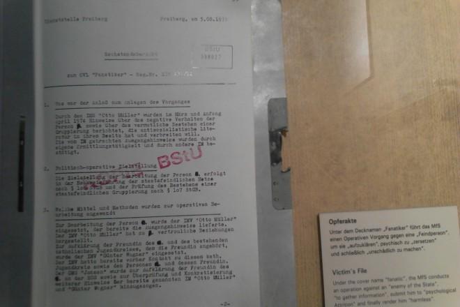 """копие от досието в ЩАЗИ на обект """"Фанатик"""""""