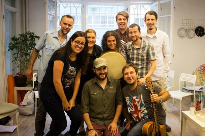 Кристиане Карам с участници от семинара, 11-12 юли 2015, София