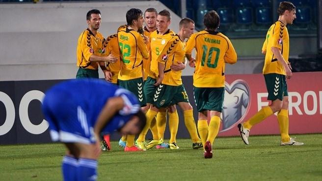 Литва успя да надиграе много трудно аутсайдера Сан Марино в историческия мач.