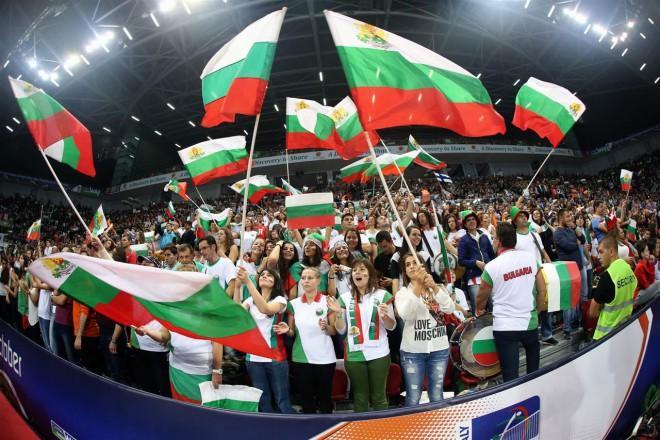 Българските фенове определено могат да спечелят първото място за най-шумна и привързана към отбора си публика и признанието дойде от всички.