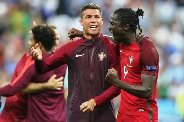 Кристиано подсказа на Едер, че ще се превърне в героя на вечерта, а и на първенството.