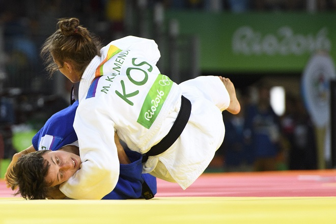 Майлинда и швейцарката Евелин Чоп в Рио 2016.