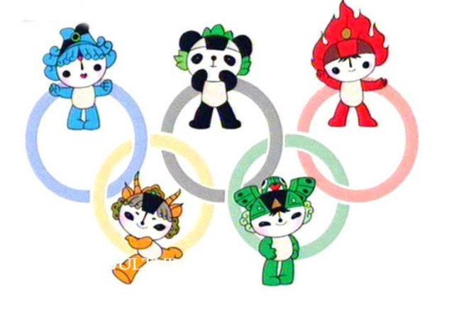 Петте магически същества от Олимпийските игри в Пекин.