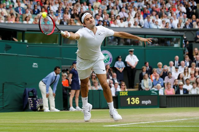 Движенията на Федерер на корта винаги са толкова естествени, сякаш наистина рисува..