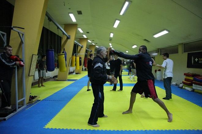 Палми Ранчев в действие по време на тренировка.