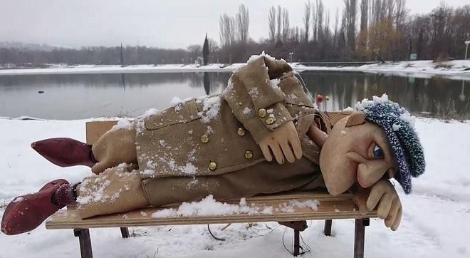 """Кадър от филма """"Среща"""" на Любомир Желев."""