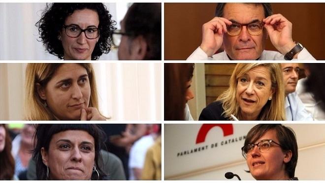 Още пет дами от индепендентистите плюс бившия парламентарен шеф Артур мас са с повдигнати обвинения за неподчинение. Те трябваше да участват в евентуалната коалиция на индепендентистите.