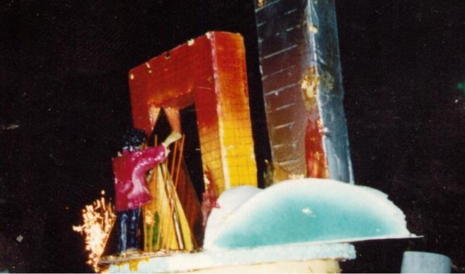 """Тортата на приема на Жан-Мишел след концерта в """"Дефанс"""" - 14.7.90"""