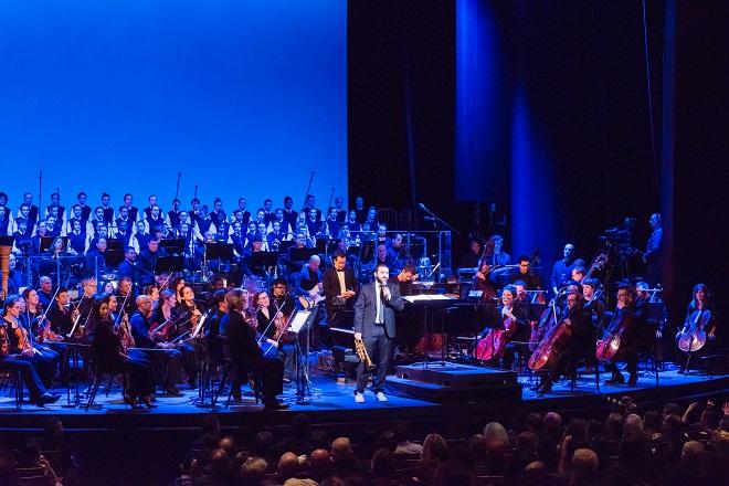 Ибраим Маалуф на премиерата със Симфоничния оркестър