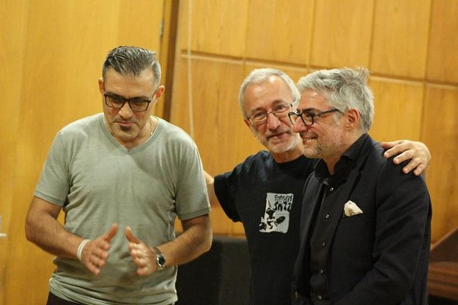 С Джовани и Христос в Студио 1 на БНР.